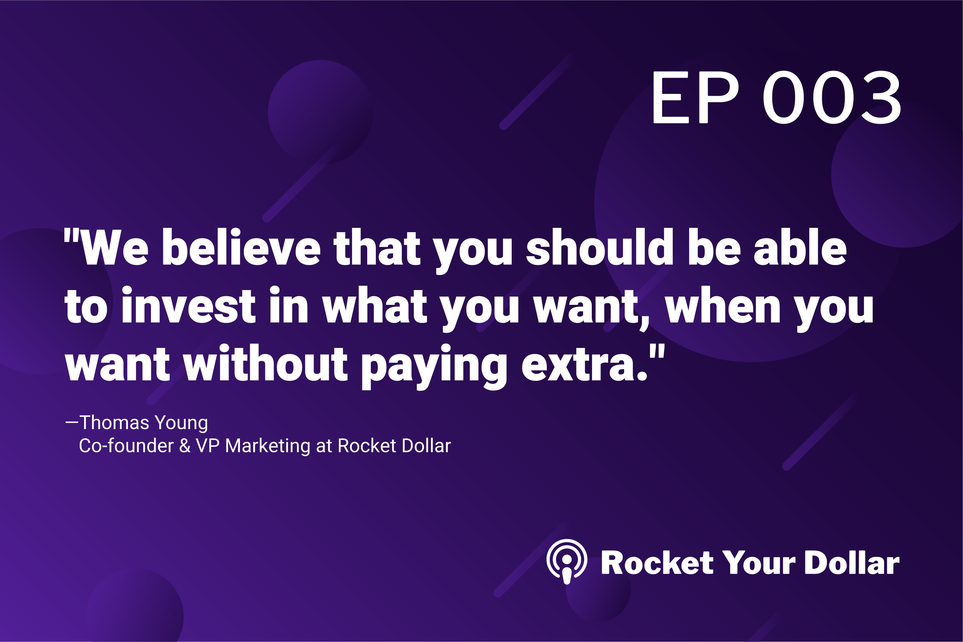 Rocket Your Dollar Ep.3: The Self-Directed IRA