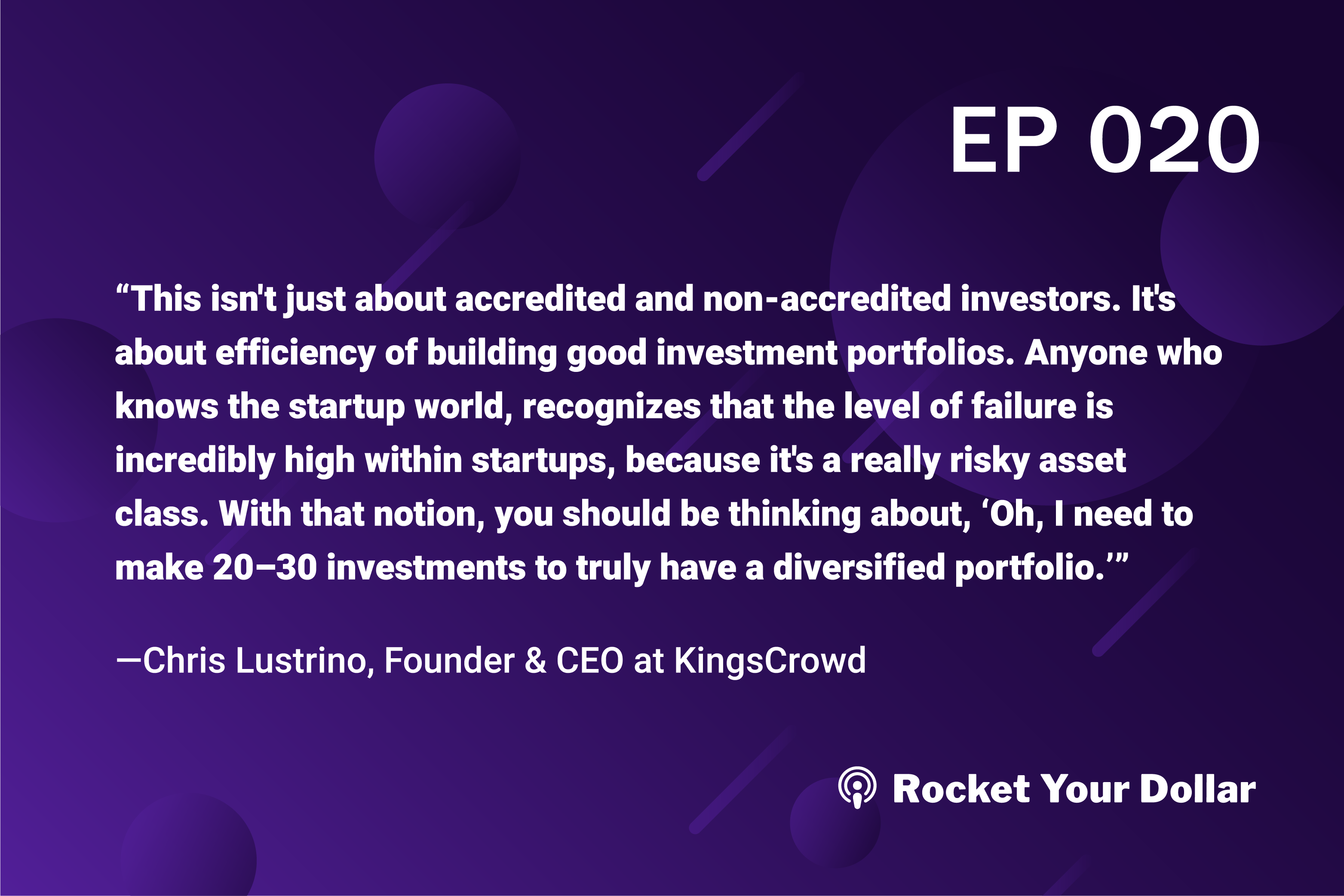 Rocket Your Dollar Ep. 20: How to Choose the Best Equity Crowdfunding Deal
