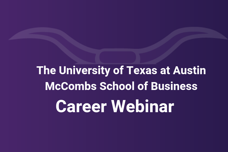 Career Webinar with Henry Yoshida for The McCombs School of Business