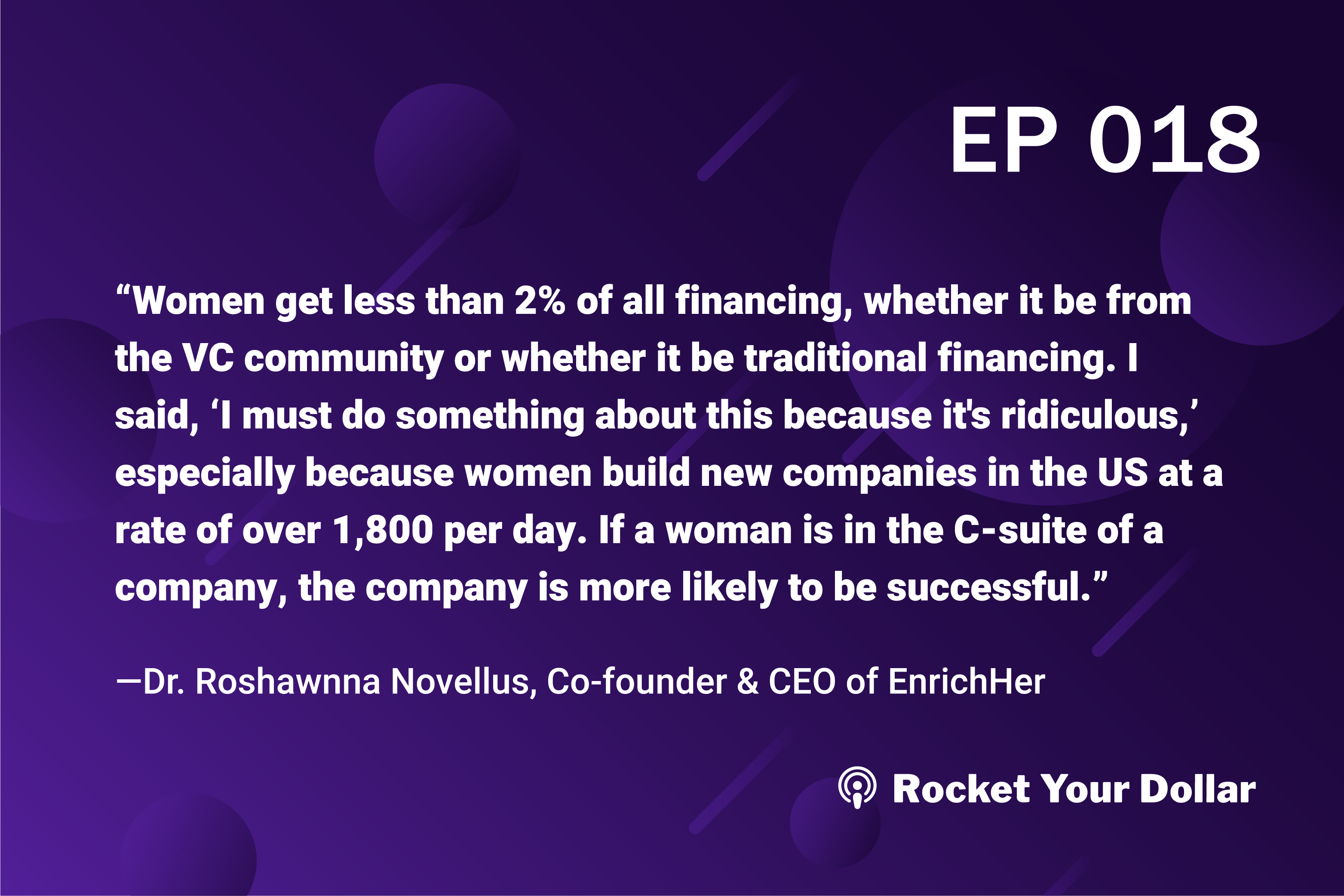 Rocket Your Dollar Ep. 18: Female Founders and Fundraising