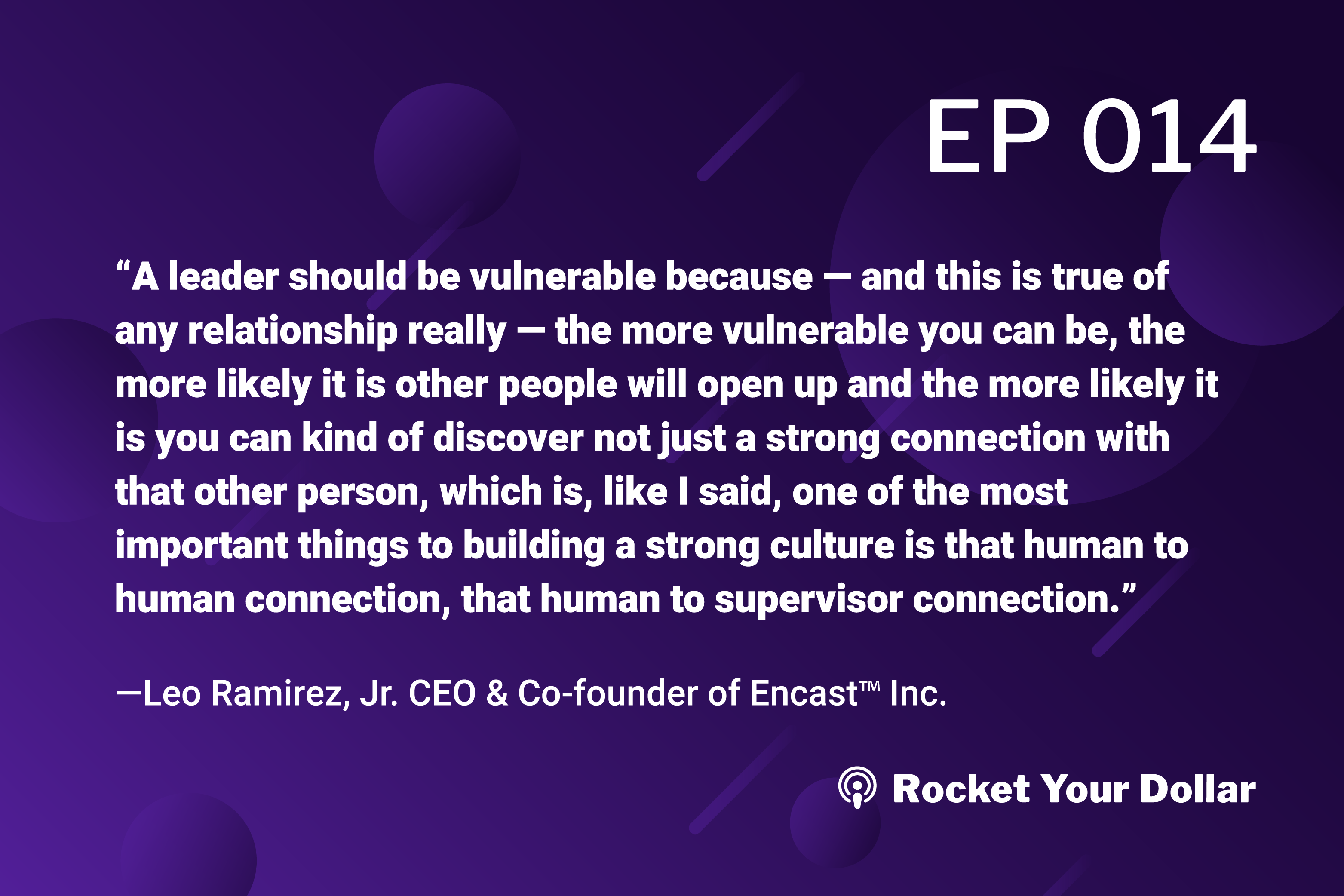 Rocket Your Dollar Ep. 14: Investing in Culture