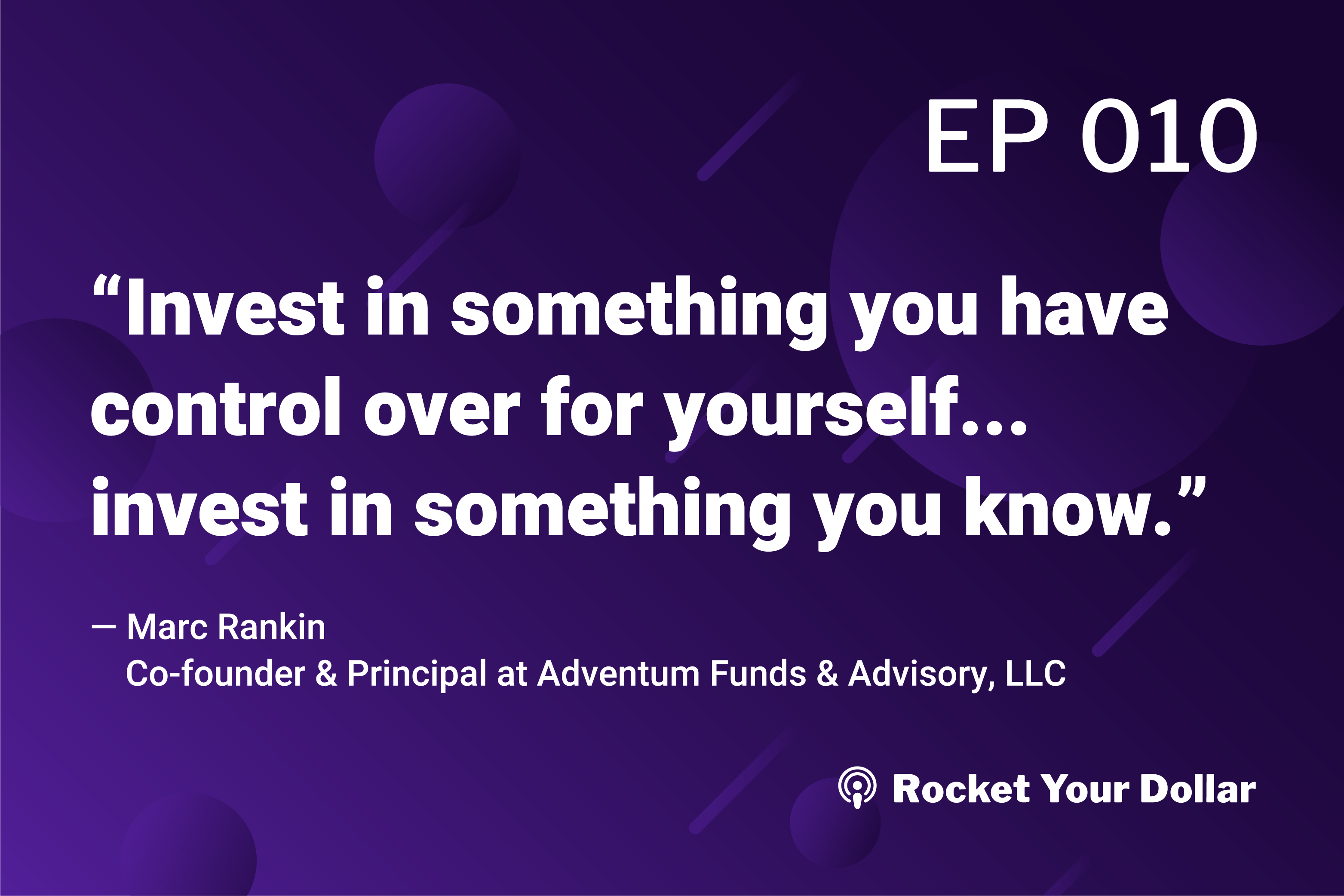 Rocket Your Dollar Podcast Ep.10: A New Model For Diversification